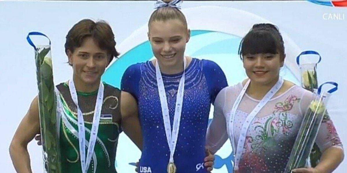 Alexa Moreno gana medalla de Bronce en Copa del Mundo