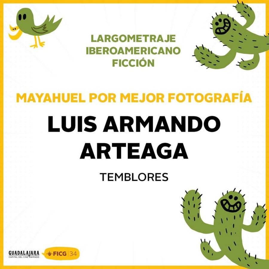 Premio Mayahuel para Luis Armando Arteaga
