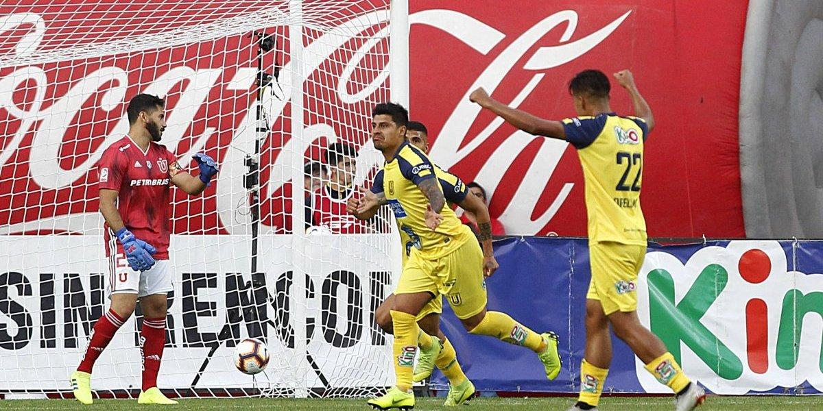 La U ni con cambio de entrenador olvidó sus problemas: Perdió ante la U. de Concepción