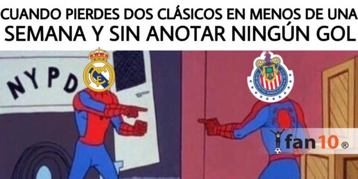 Los memes destrozan a Chivas tras la derrota en el Clásico nacional