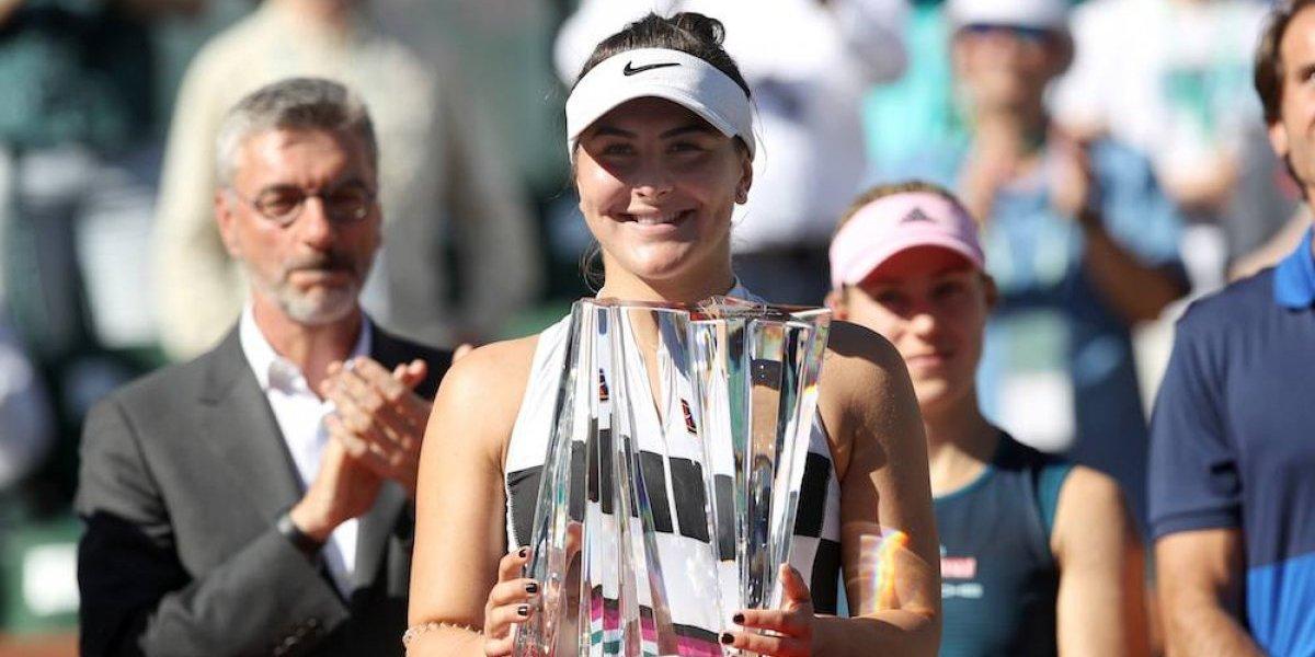 Andreescu deja a Kerber sin el título de Indian Wells