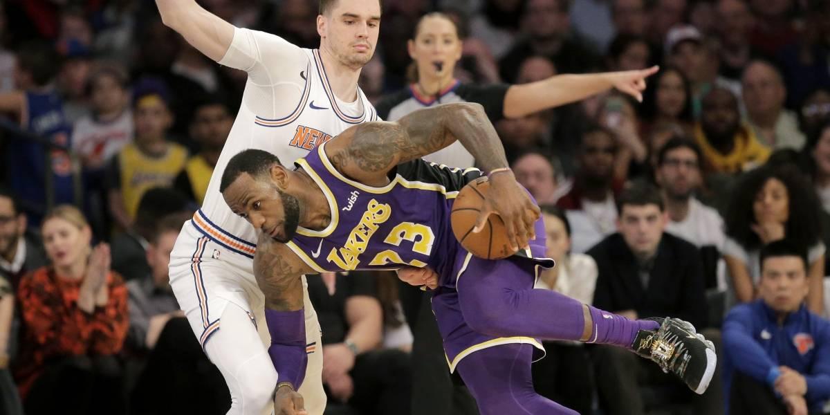Lebron y los Lakers caen ante los Knicks de Nueva York