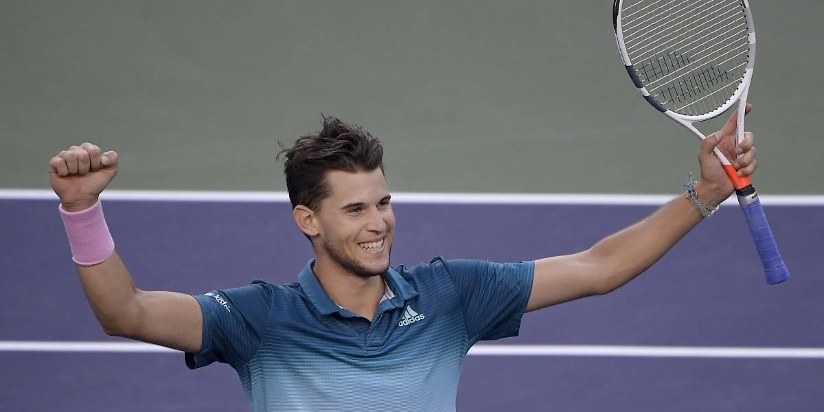 Cae Roger Federer ante Dominic Thiem en el Indian Wells