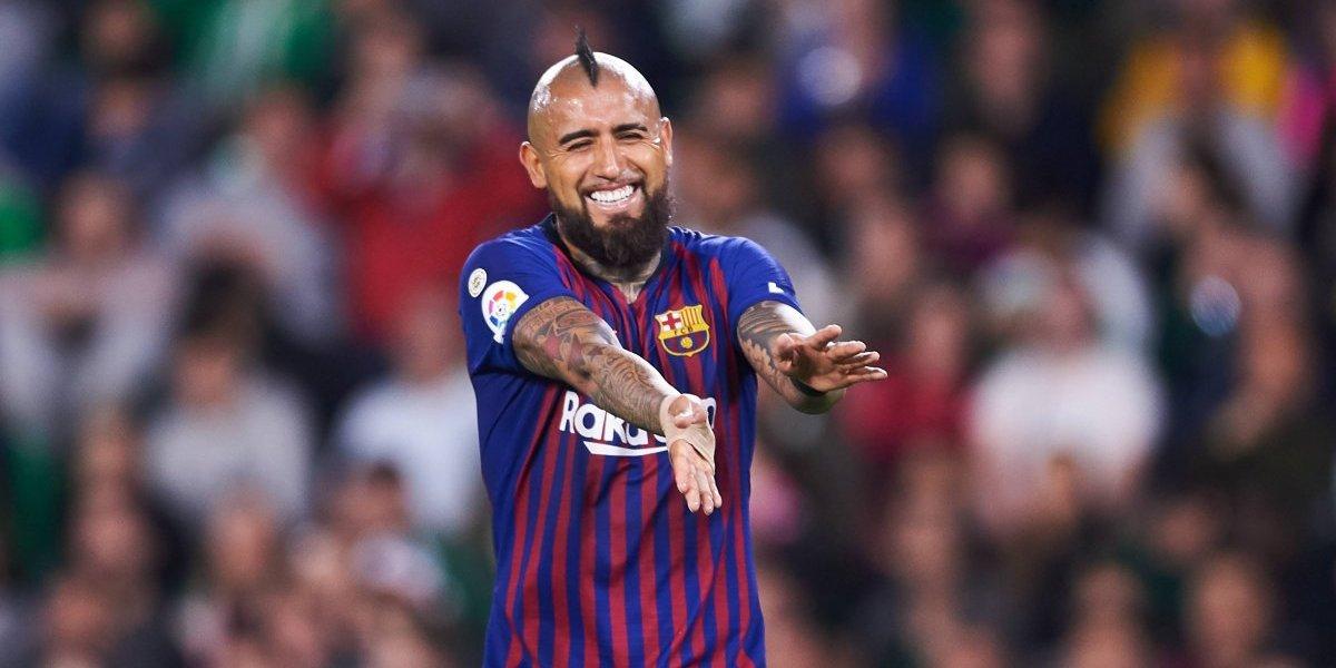 """La prensa española destacó a un """"intimidador"""" Vidal en la goleada del Barcelona frente al Betis"""