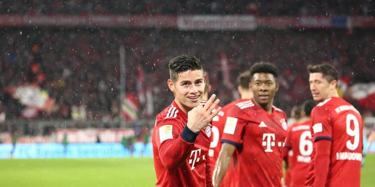 ¡Triplete de James! Los golazos con los que gana el Bayern al Mainz