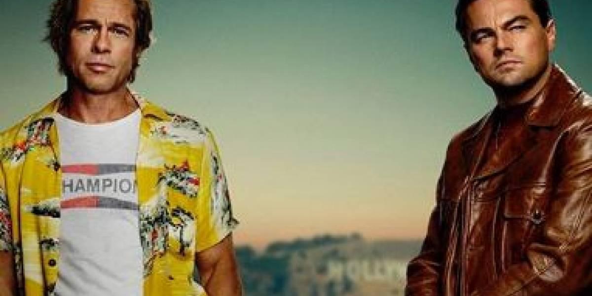 """Leonardo DiCaprio y Brad Pitt codo a codo: así es el afiche de la nueva película """"Once Upon a Time in Hollywood"""""""