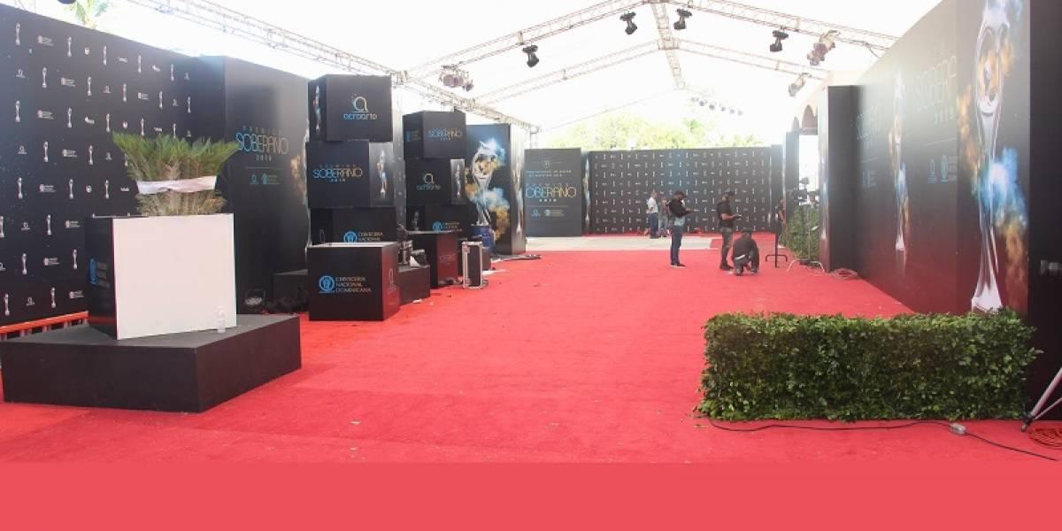 """La alfombra roja de """"Premios Soberano"""" ya está lista"""