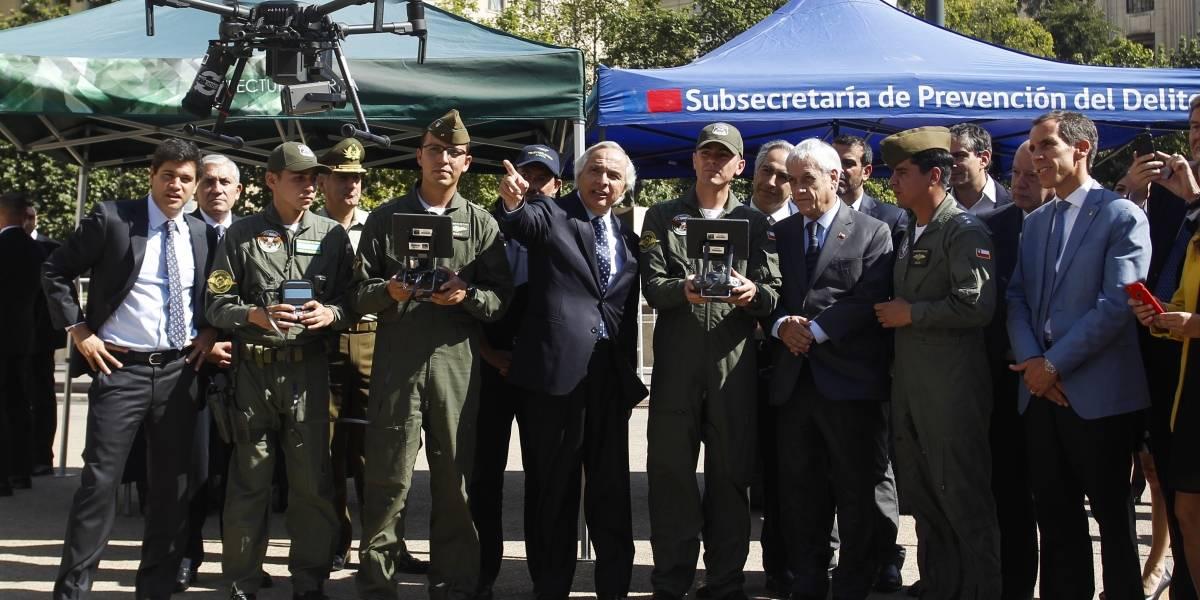 Presidente Piñera dio el vamos a plan de seguridad móvil con ocho drones para la Región Metropolitana