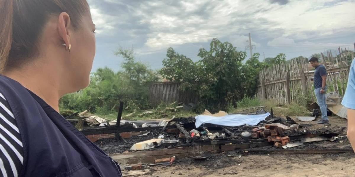 Madre e hija mueren calcinadas tras incendio en ciudadela Tierra Santa, Manabí