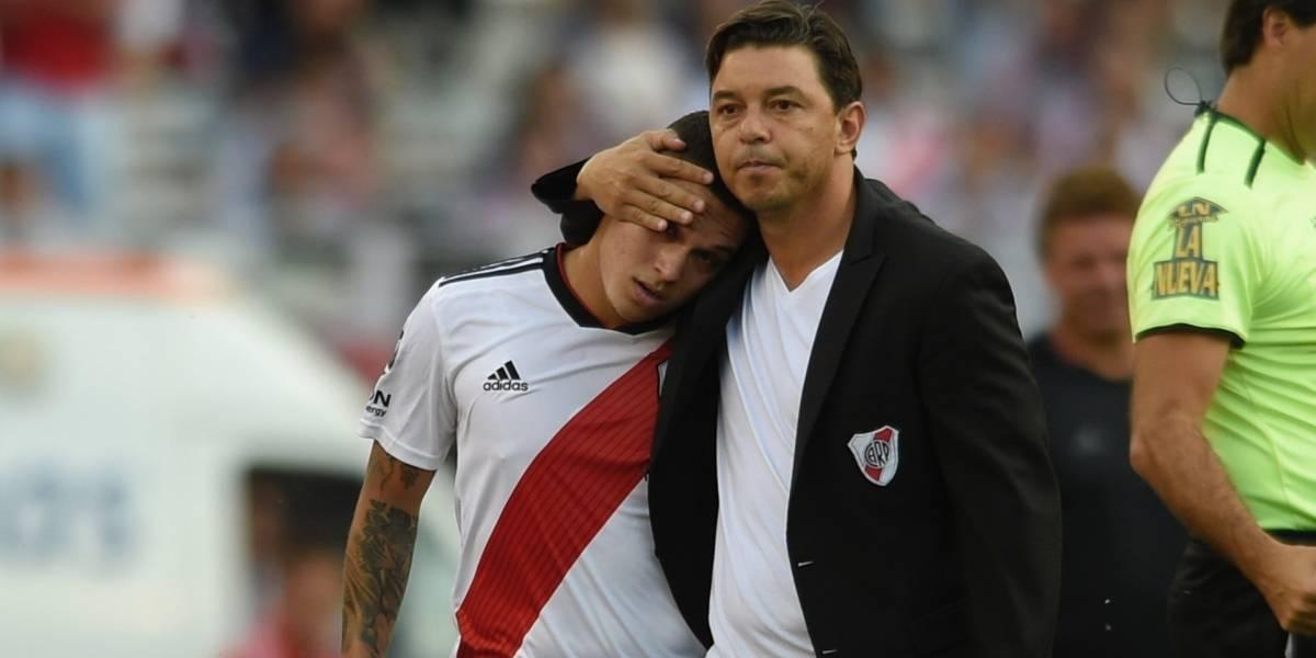 ¿Apresurado? Ya le buscan reemplazo a Juan Fernando Quintero en River Plate tras su lesión
