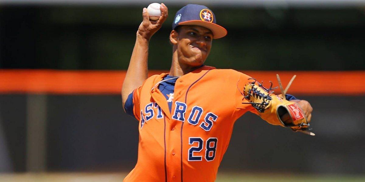 Brayan Abreu causó grata impresión en los Astros