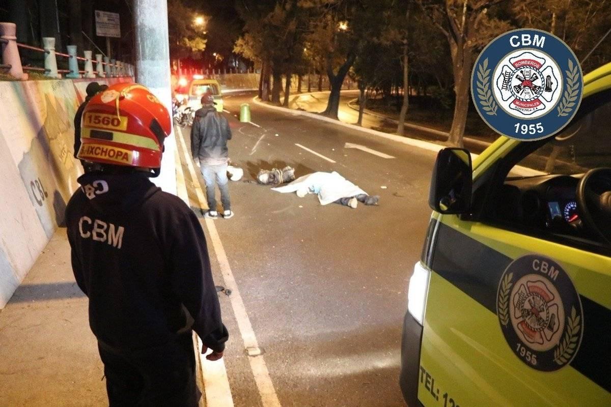 motorista fallecido en zona 5