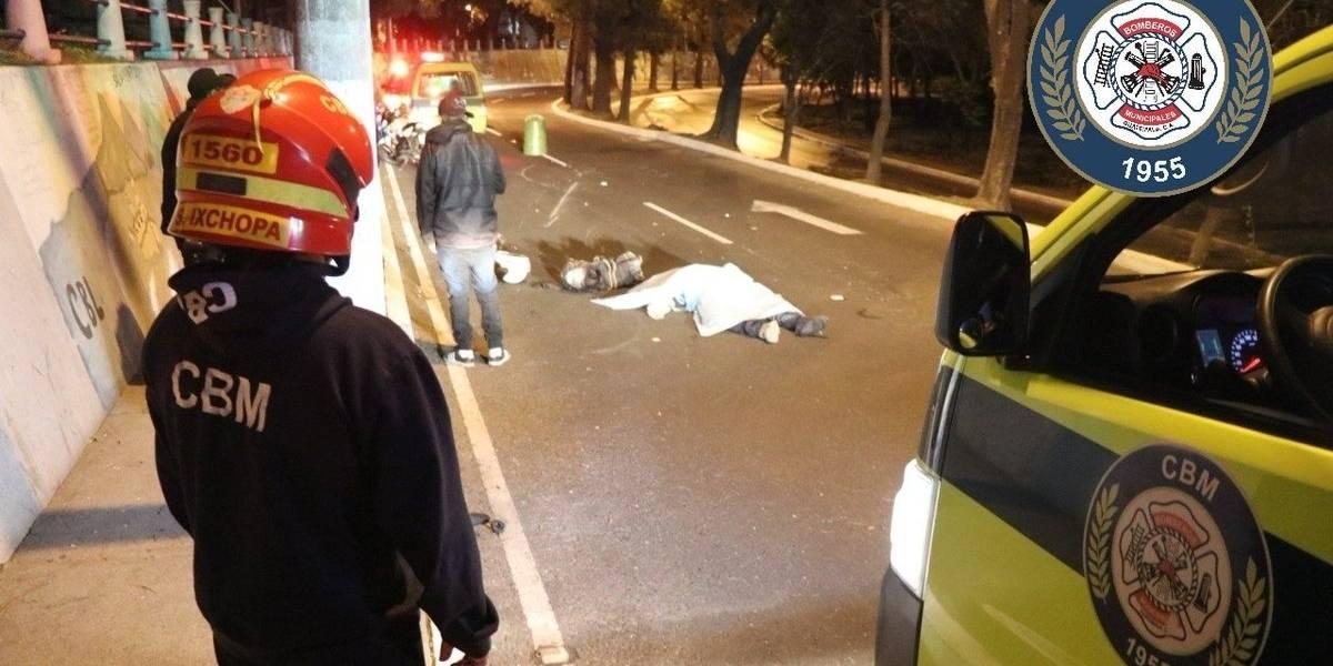 Motoristas mueren por accidentes de tránsito en zonas 5 y 18