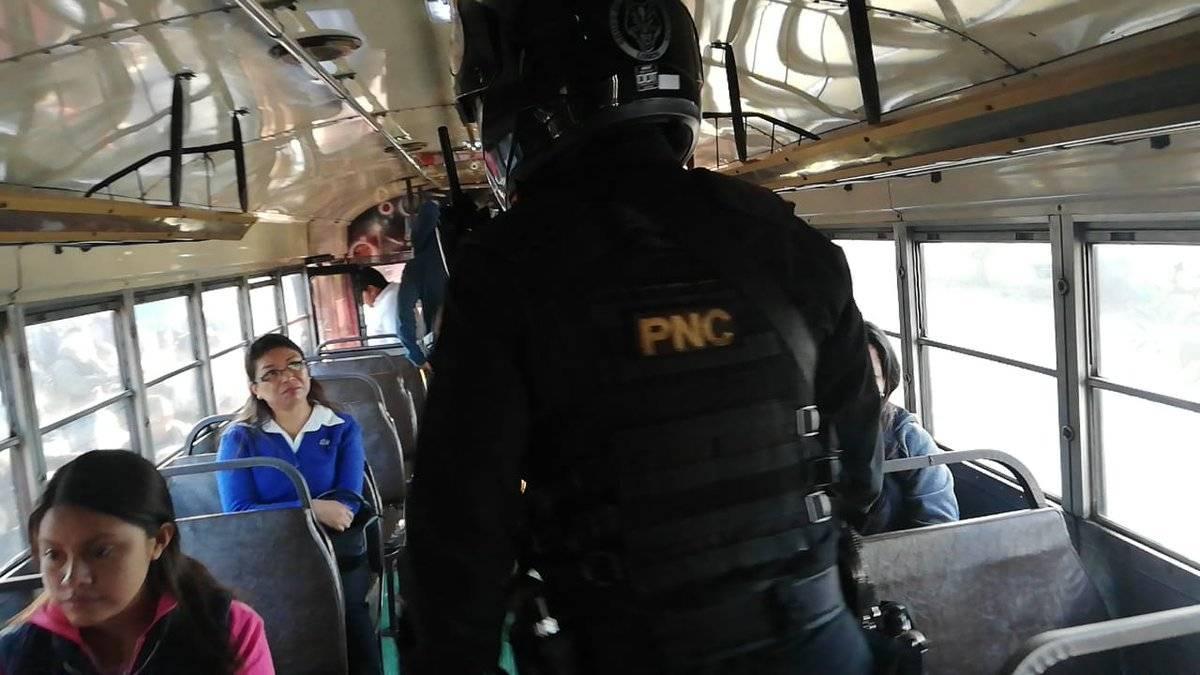 PNC realiza operativos de seguridad ciudadana en la capital