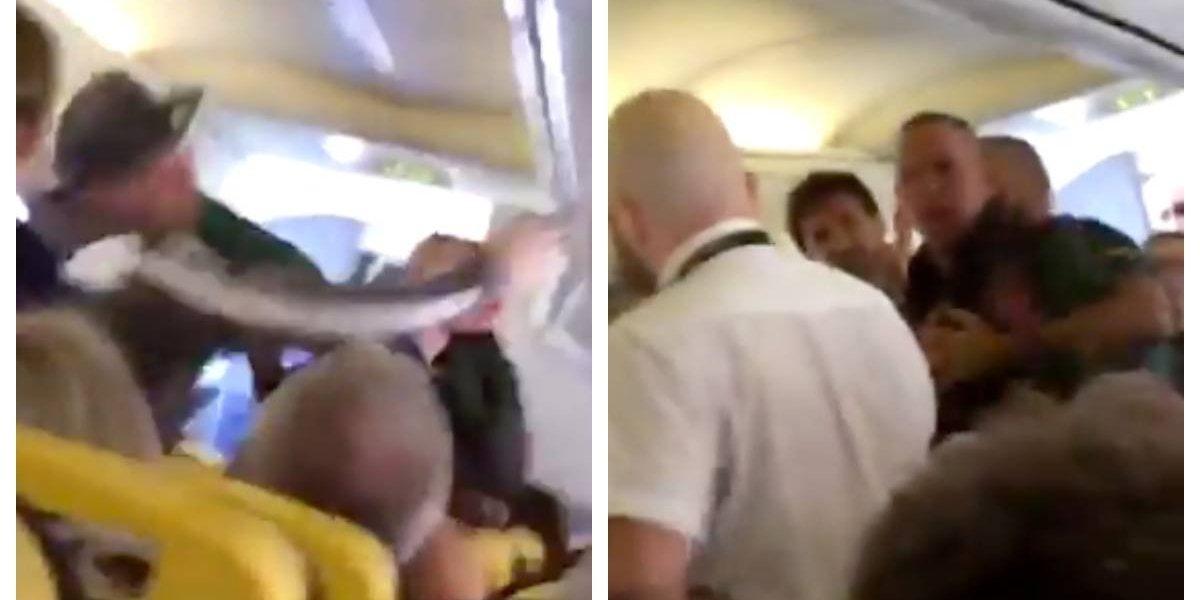 La trifulca durante un vuelo de Ryanair que acabó a mordiscos