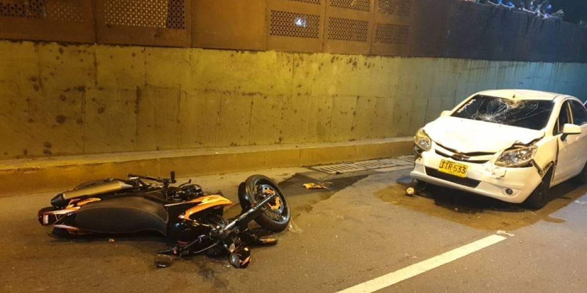 Video: Vehículo en contravía atropelló a motociclista alicorado