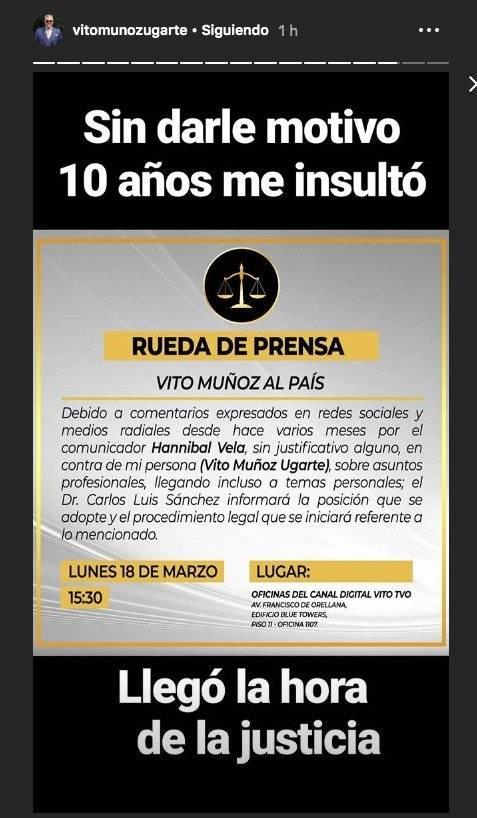 El mensaje de Vito Muñoz