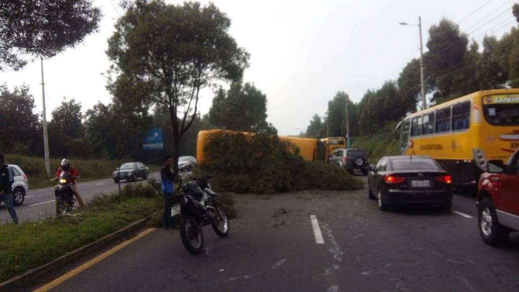 Accidente de tránsito provoca congestión vehicular en la avenida Simón Bolívar