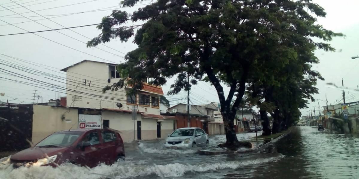 Fuertes lluvias en Guayaquil causan estragos; el Inamhi asegura que continuarán en la región Litoral