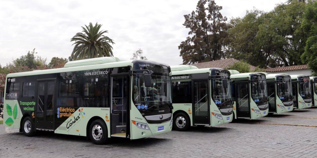 Yutong entrega flota de buses eléctricos a Las Condes