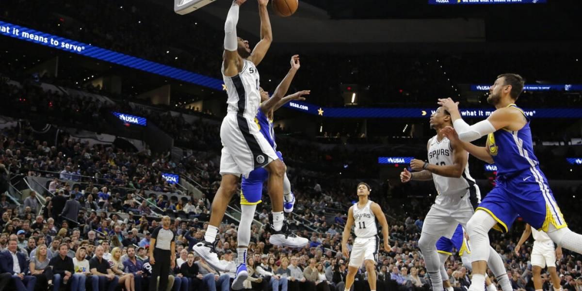 Spurs vencen a los Warriors y suman nueve triunfos seguidos