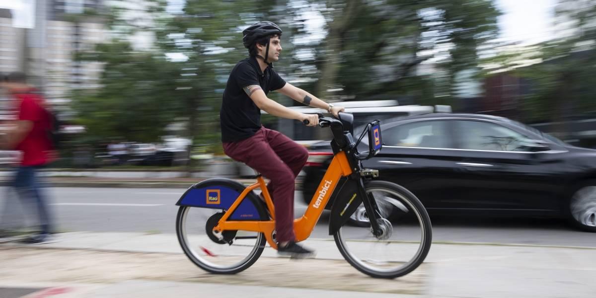 Serviço de bicicletas elétricas compartilhadas já está sendo utilizado em São Paulo. Foto: Divulgação.