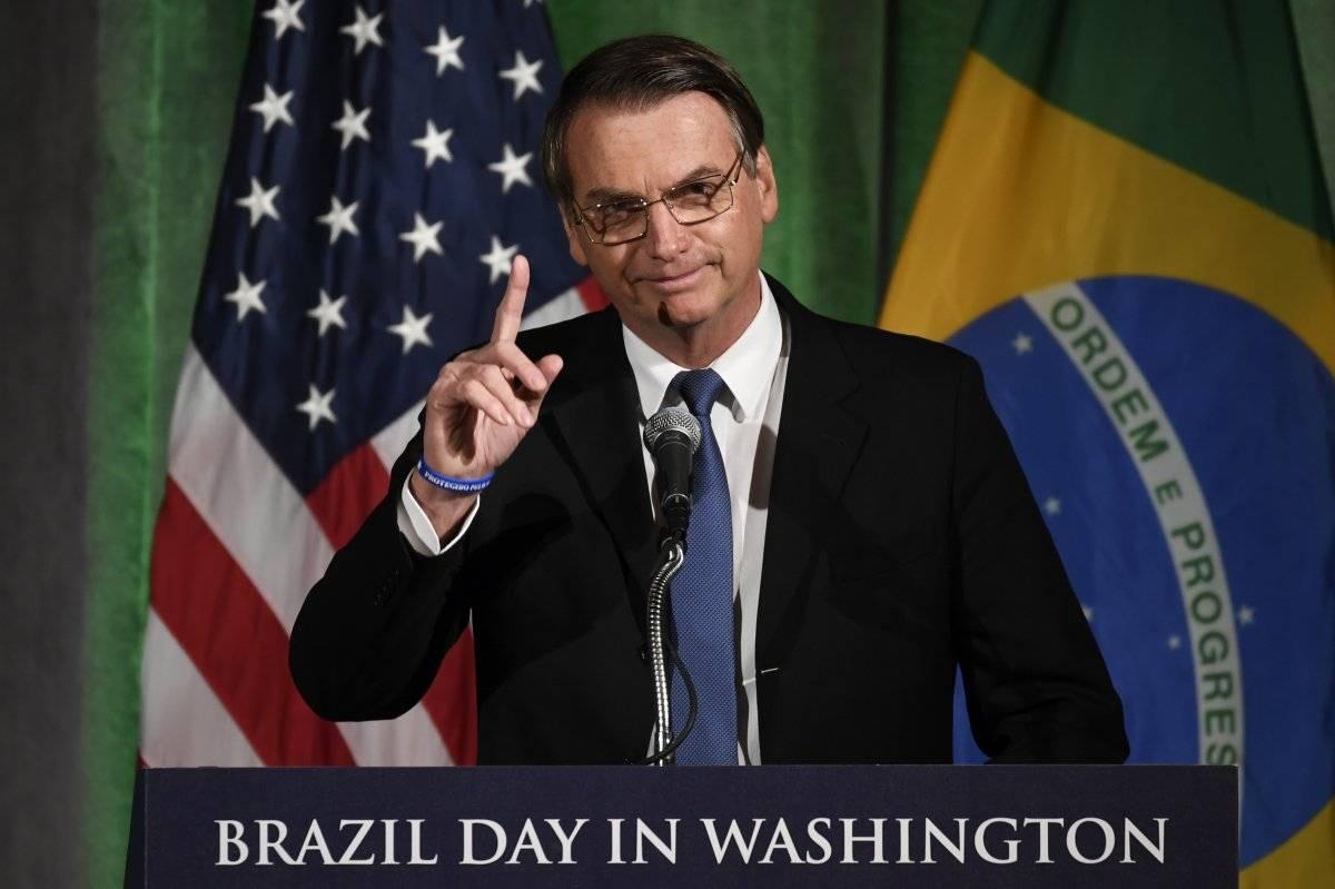 Jair Bolsonaro, presidente de Brasil, en su primera visita a EU como mandatario Foto: Ap