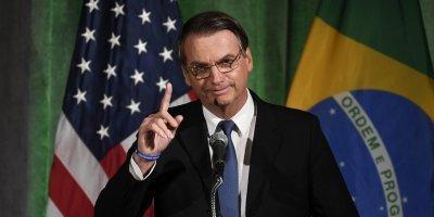 Jair Bolsonaro, presidente de Brasil, en su primera visita a EU como mandatario