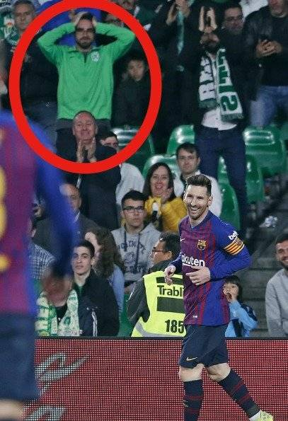Hincha de Nacional sorprendido con Messi