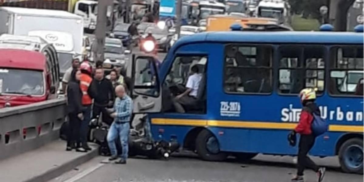 Accidente de SITP bloquea la Avenida Primero de Mayo en el sur de Bogotá