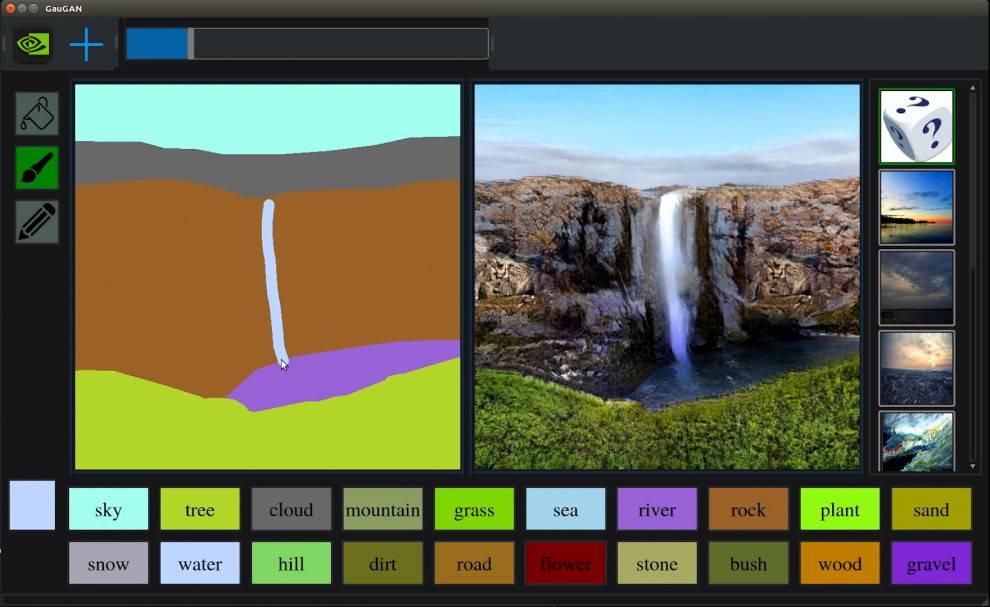 Esta increíble IA de Nvidia es capaz de convertir simples dibujos en paisajes fotorrealistas