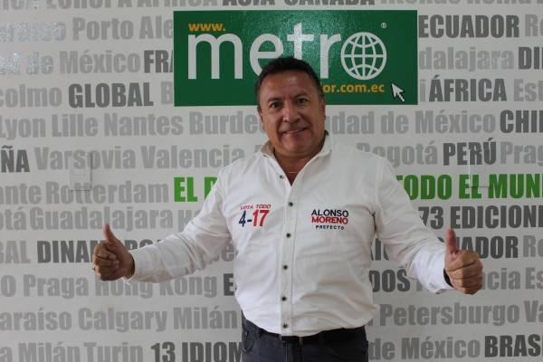 'Pichincha te cuida': Alonso Moreno tiene sus planes para la Prefectura