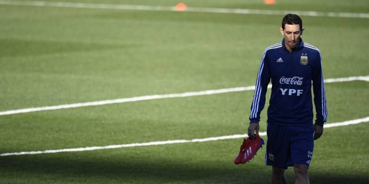Di María causa baja en Argentina por una lesión muscular