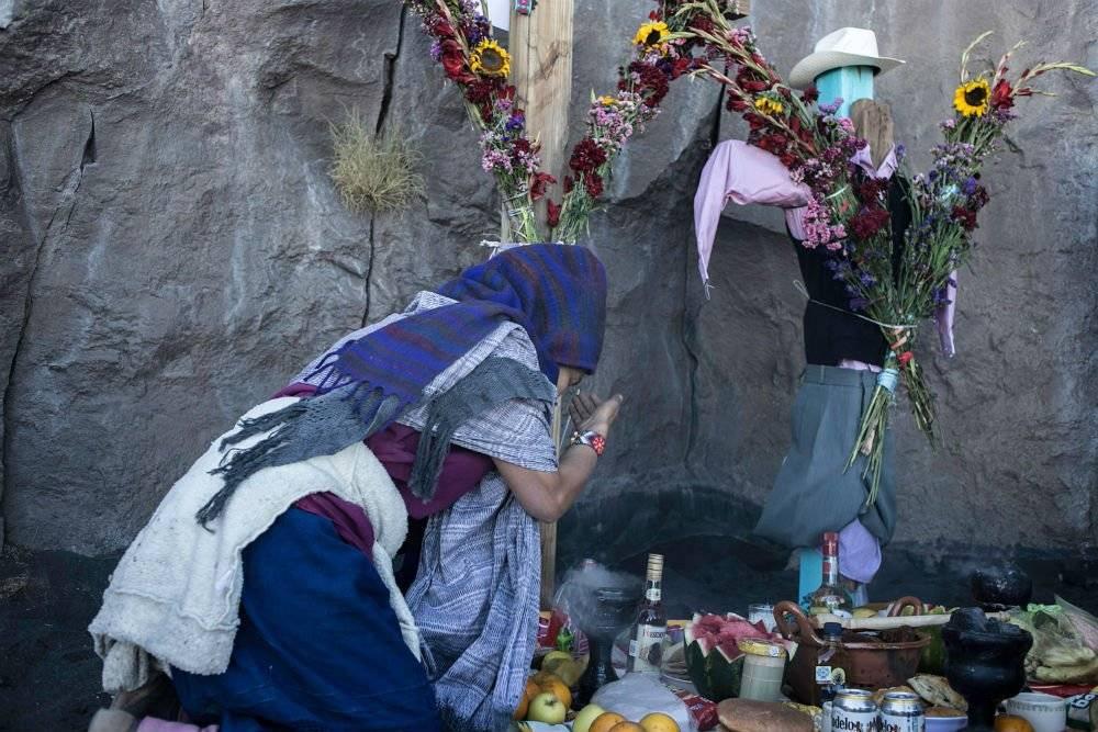 """Pobladores de San Nicolás de los Ranchos y Xalitzintla celebran los 744 mil años de """"Don Goyo"""" Foto: Cuartoscuro"""