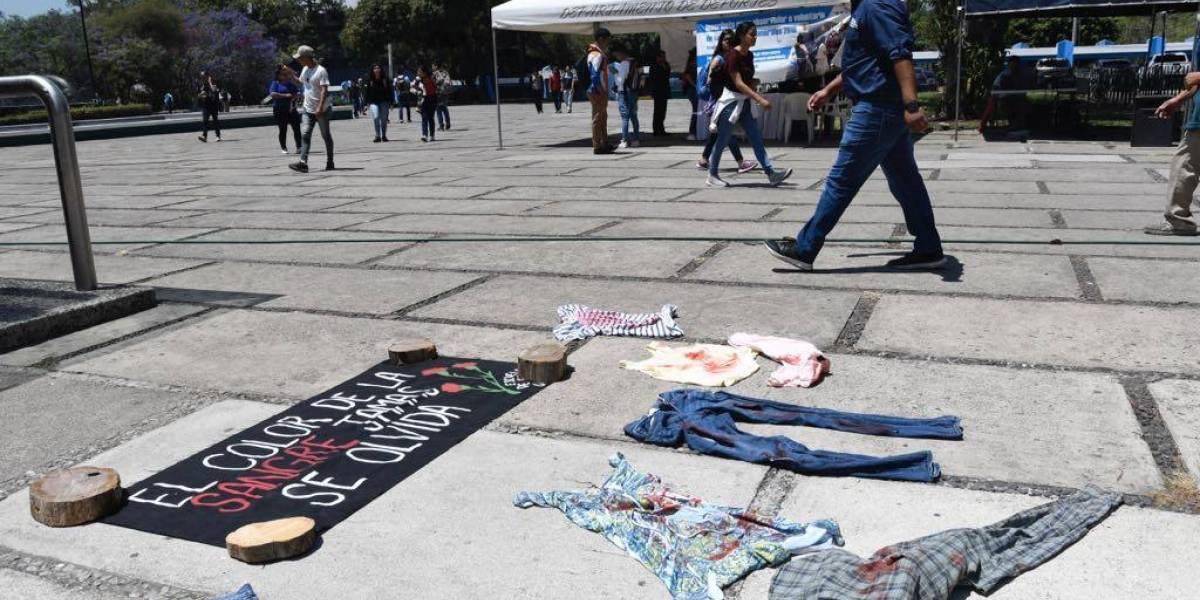 Estudiantes exigen que no haya violencia sexual en la Usac
