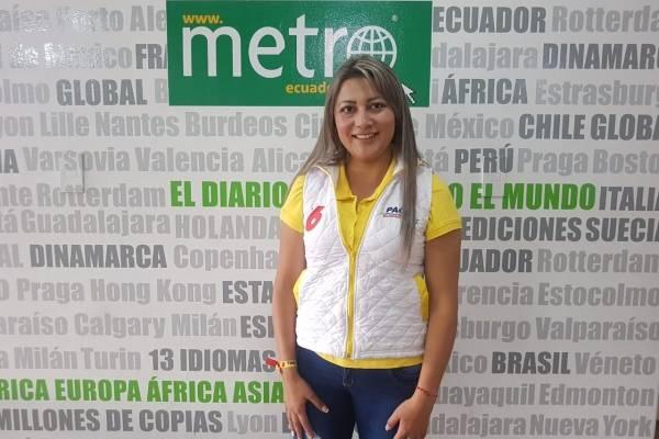 Paola Mazapanta quiere ser la voz del sur de Quito