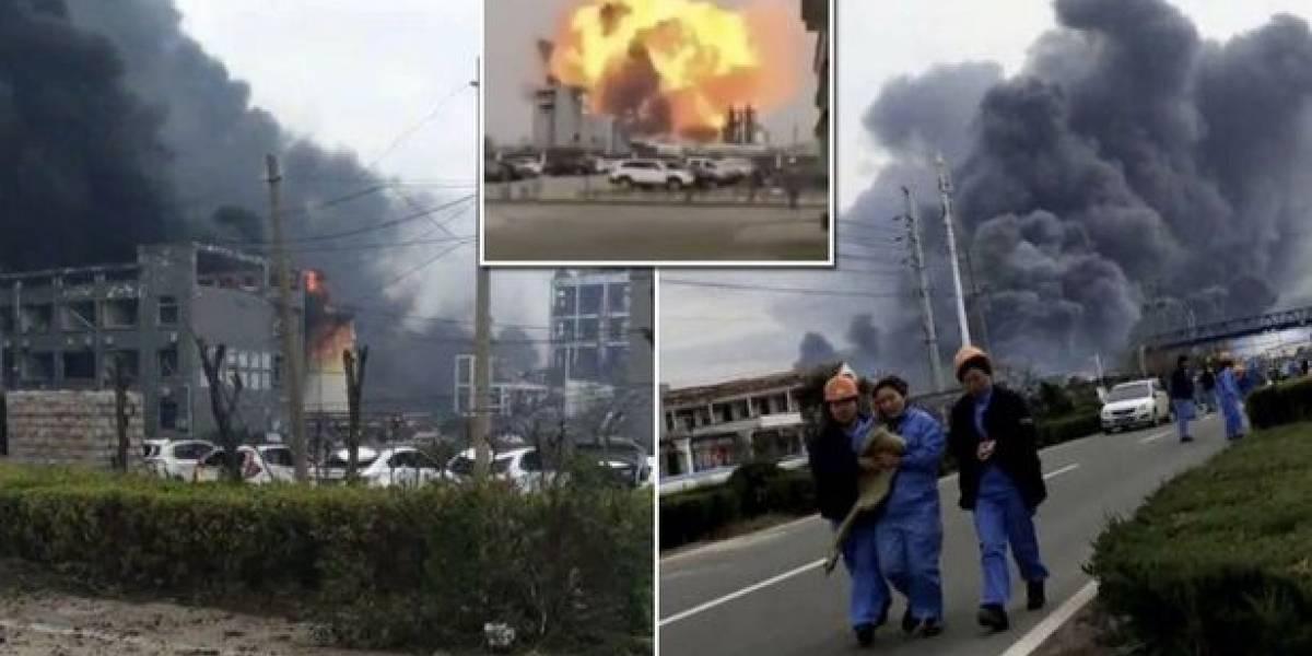 Grave explosión en planta química en China: Al menos seis muertos y 30 heridos