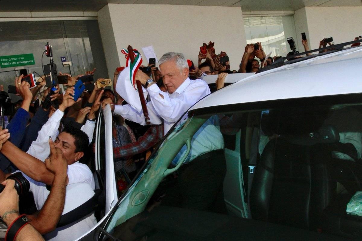 Arribo del presidente a Oaxaca. Foto: Notimex