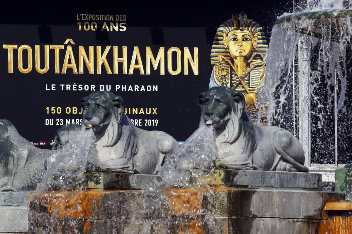 Exposición sobre Tutankamón en Francia Foto: AP