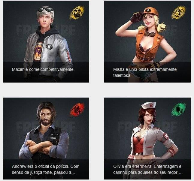 Free Fire: conheça os personagens que fazem sucesso no popular game