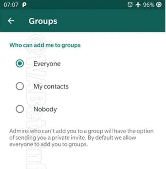 Invitación para los grupos de WhatsApp