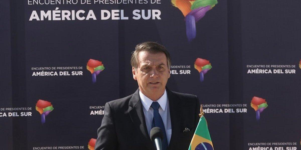 """Jair Bolsonaro advierte a su llegada a Chile: """"No vine aquí para hablar de Pinochet"""""""
