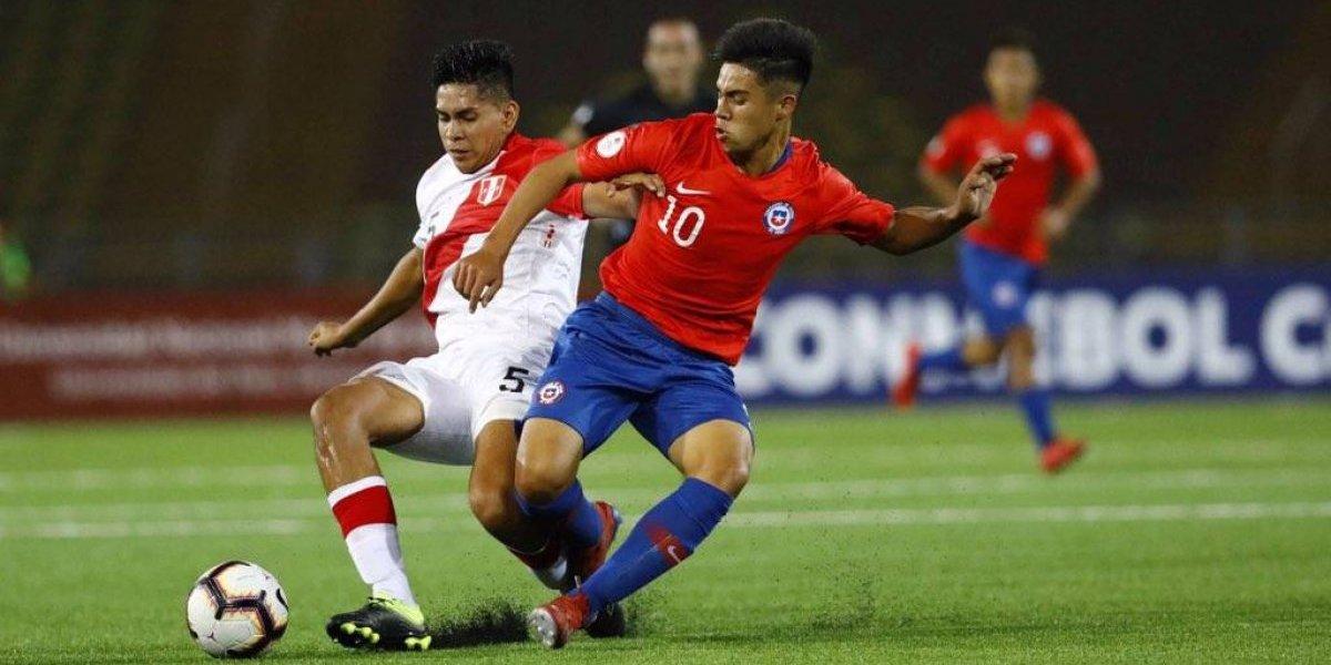 La Roja tuvo un duro debut y rescató un empate ante Perú en el arranque del Sudamericano Sub 17
