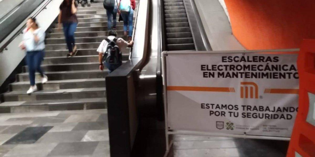 Escaleras eléctricas de la Línea 7 funcionarán el viernes, pero sólo de subida