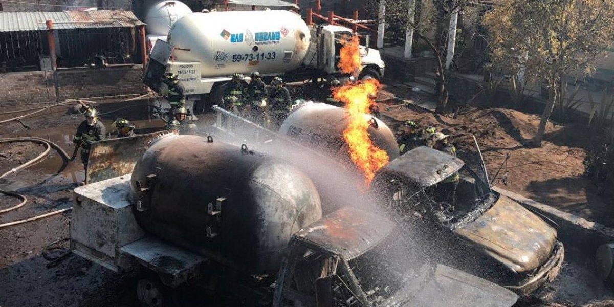Explosión de pipas en Milpa Alta deja 3 heridos