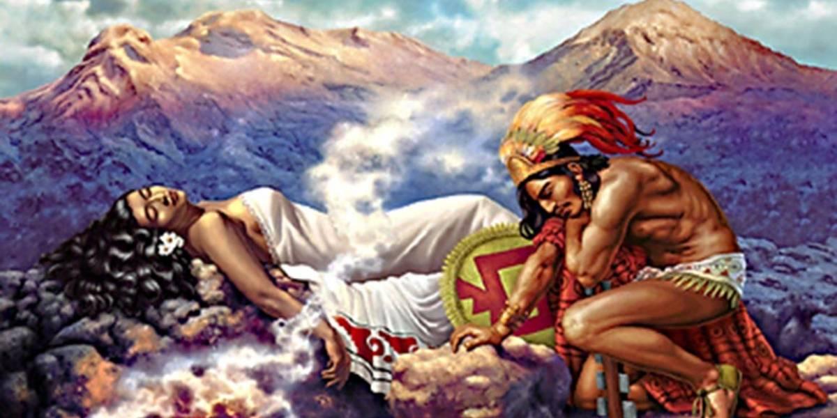 Conoce la leyenda del volcán Popocatépetl y el Iztaccíhuatl