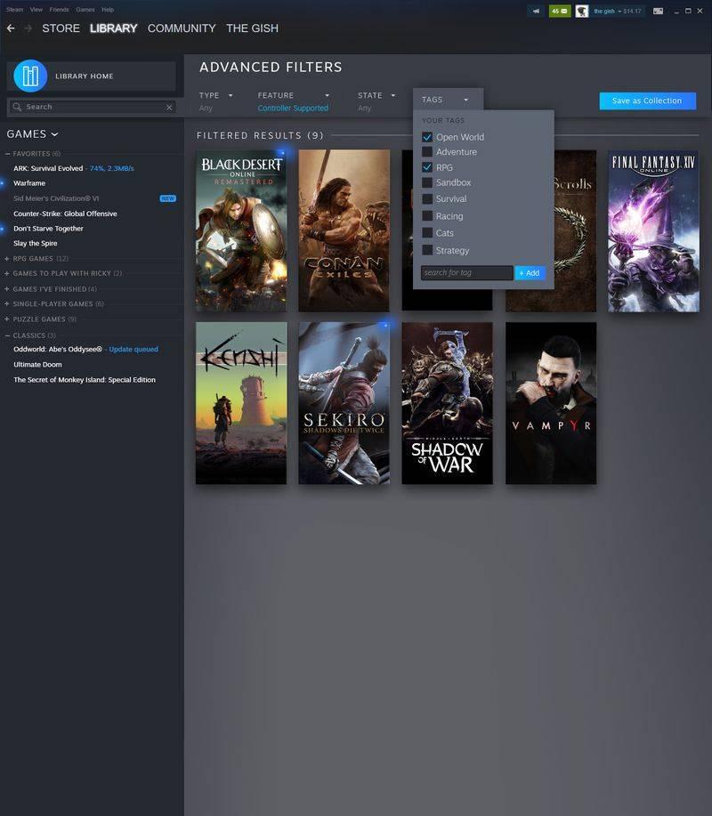 Así se verá el rediseño de la biblioteca de Steam que Valve anunció esta semana