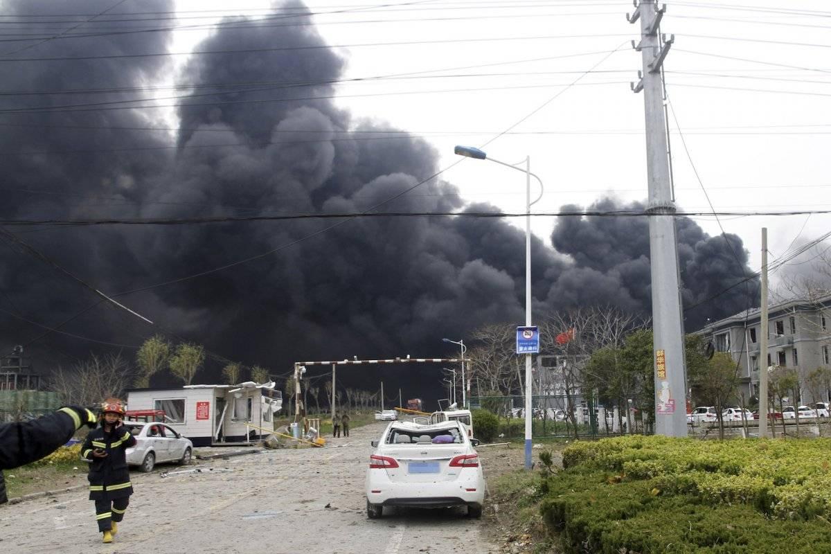 Escenas de la tragedia en China Foto: AP