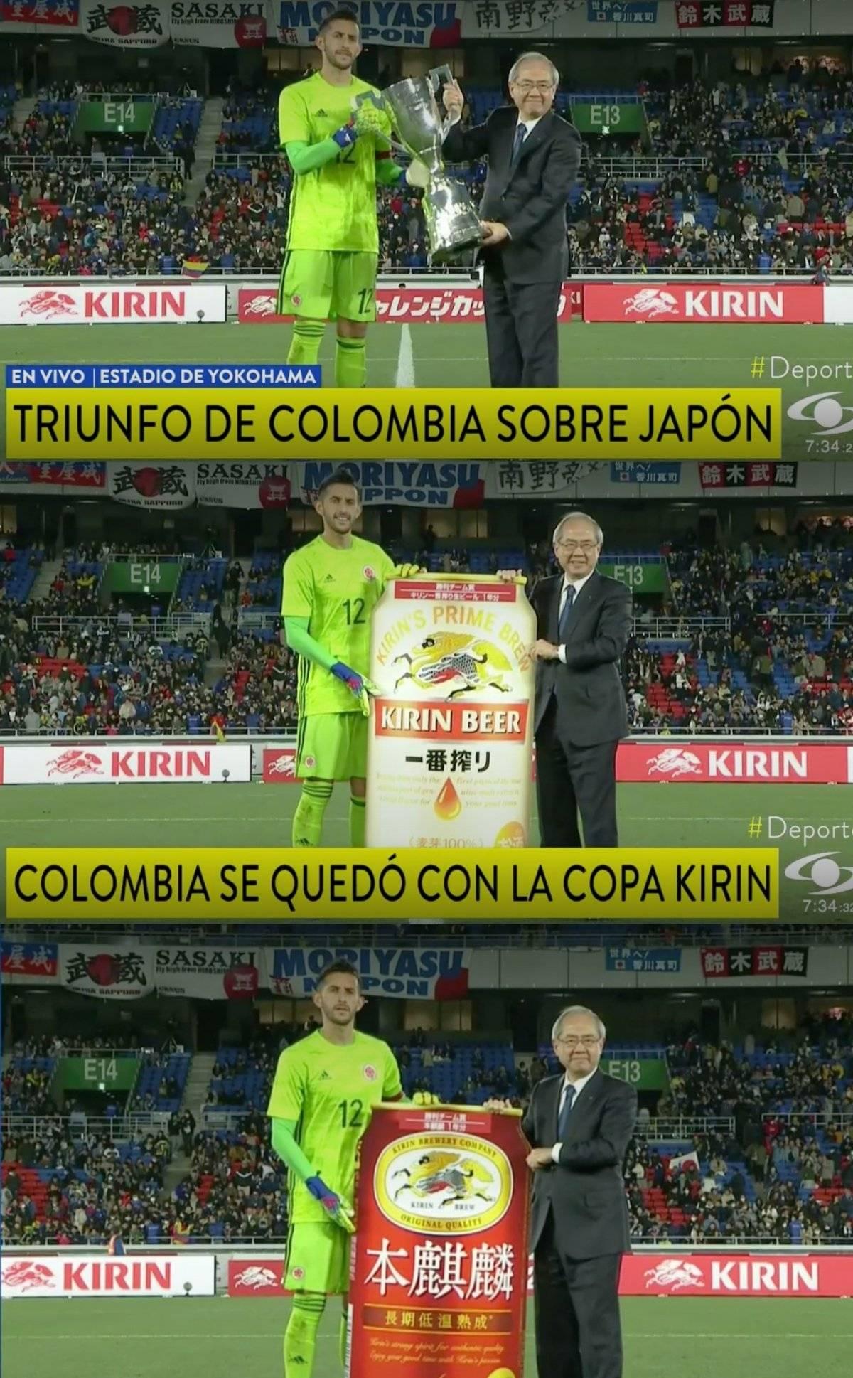 Camilo Vargas terminó como capitán de Colombia VS Japón