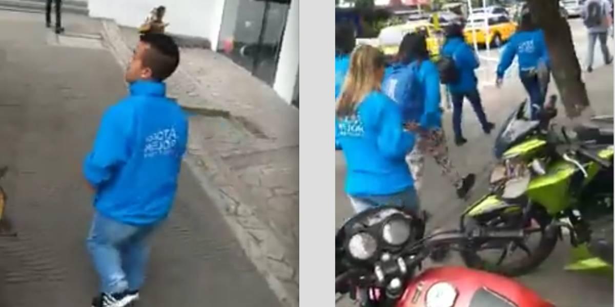 """Infractor insultó a funcionario de baja estatura y fue """"acribillado"""" en redes sociales"""